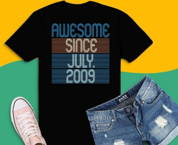 Awesome Since July 2009 12 Year Old Boys Girls T-Shirt design svg