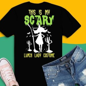 This is my scary lunch lady Costume Spooky Ghost png, Halloween T-shirt, Pumpkin T-shirt, Candy T-shirt, Witch T-shirt,
