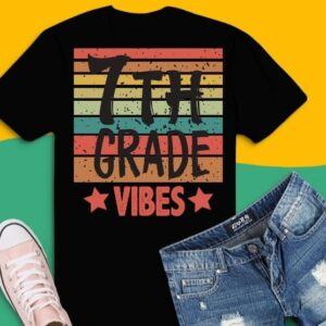 Back To School Cute First Day svg, 7th Grade Vibes Tee png Back To School Cute First Day Teacher Kids, 7th Grade Vibes T-shirt