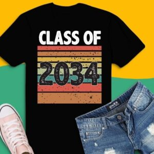 Retro Vintage Class Of 2034 Grow With Me T-shirt design svg