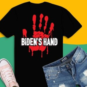 The Blood Is On Biden's Hands As Well As Anyone Who Vote Him T-Shirt design svg